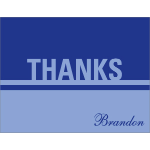 Thank You Card TC-030