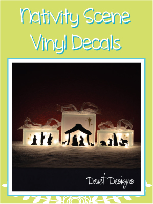 Custom nativity decals Stickers