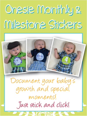 Onesie Monthly and Milestone Stickers