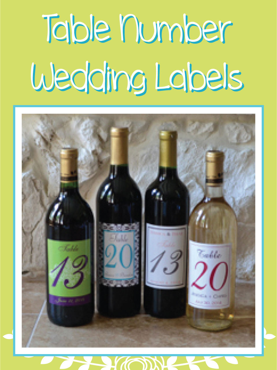 Table Number Wedding Designs