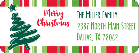 Christmas Address Labels CLB-002