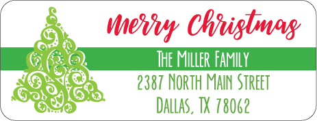 Christmas Address Labels CLB-004