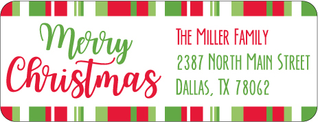 Christmas Address Labels CLB-005