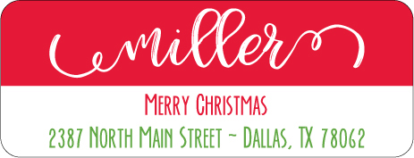 Christmas Address Labels CLB-007