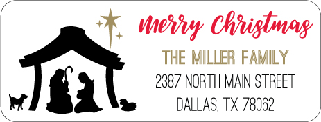 Christmas Address Labels CLB-008
