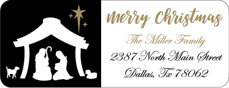 Christmas Address Labels CLB-009