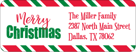 Christmas Address Labels CLB-010