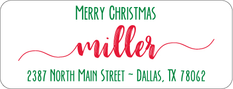 Christmas Address Labels CLB-014