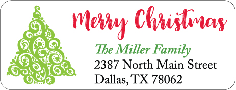 Christmas Address Labels CLB-015