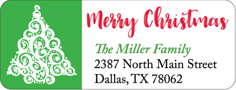 Christmas Address Labels CLB-016