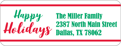 Christmas Address Labels CLB-017
