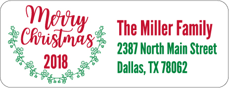 Christmas Address Labels CLB-018