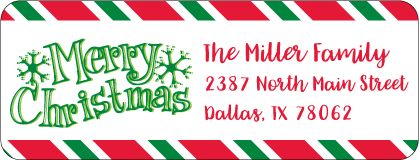 Christmas Address Labels CLB-022