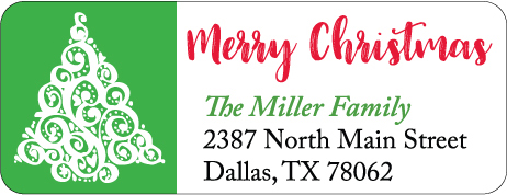 Christmas Address Labels CLB-023