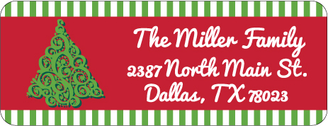 Christmas Address Labels CLB-024