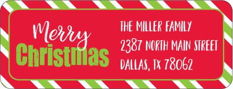 Christmas Address Labels CLB-026
