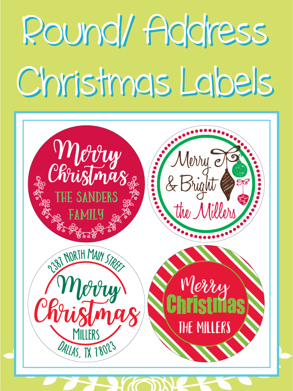Round and Address Christmas Designs