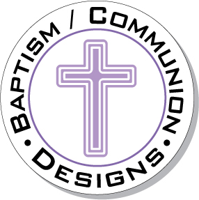 Round Baptism Christening First Communion Designs